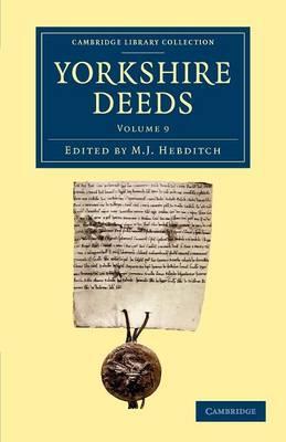 Yorkshire Deeds vol 9