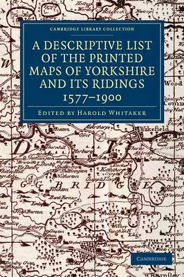 Descr Prnted Maps Yorks Rdngs 1577-