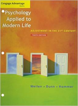 Psychology Applied To Modern Life 10ed Binder Ready Version + Coursemate + Ebook Acess Card