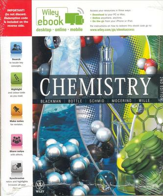 Chemistry 2E Ebook Card Perpetual + WileyPlus 4 Card