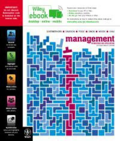 Management Foundations and Applications 1st Asia Pacific Edition E-text + Istudy Version 2 + Wells Sustainability Supplement