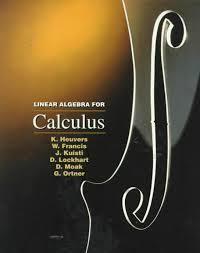 Calculus + Linear Algebra for Calculus