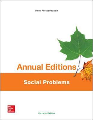 Annual Editions: Social Problems, 40/e