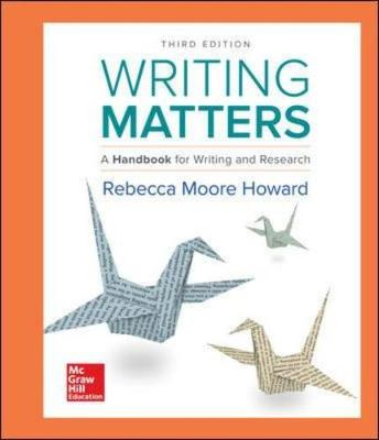 Writing Matters: Handbook Writing & Research
