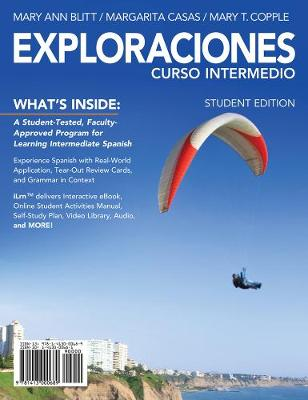 Exploraciones curso intermedio (with iLrn Printed Access Card and Student Activities Manual)