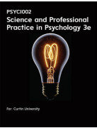 PSYC1002 Science And Professional Practice In Psychology 3e (Customised)