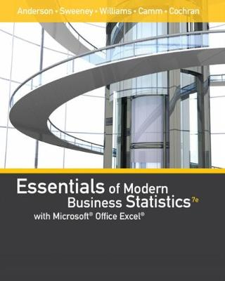 Essentials of Modern Business Statistics with Microsoft� Office Excel�  (with XLSTAT Education Edition Printed Access Card)
