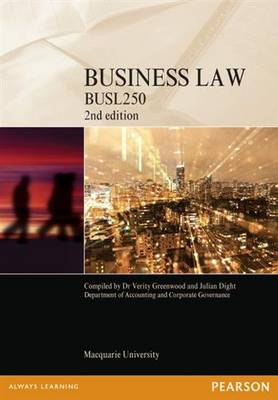 Business Law BUSL250 Custom Book 2nd ed
