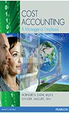 Value Pack Cost Accounting: A Managerial Emphasis + MyLab Accounting + eText + Pearson Interactive Computer Assignments