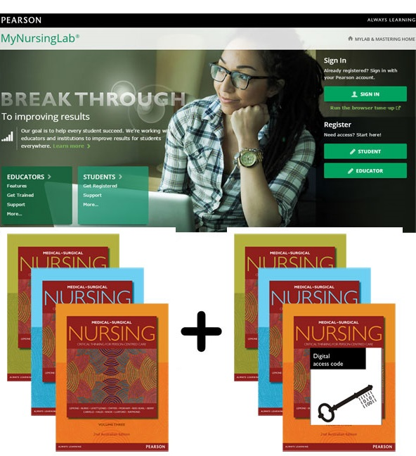 Value Pack Medical-Surgical Nursing + MyNursingLab with eText: Volumes 1-3