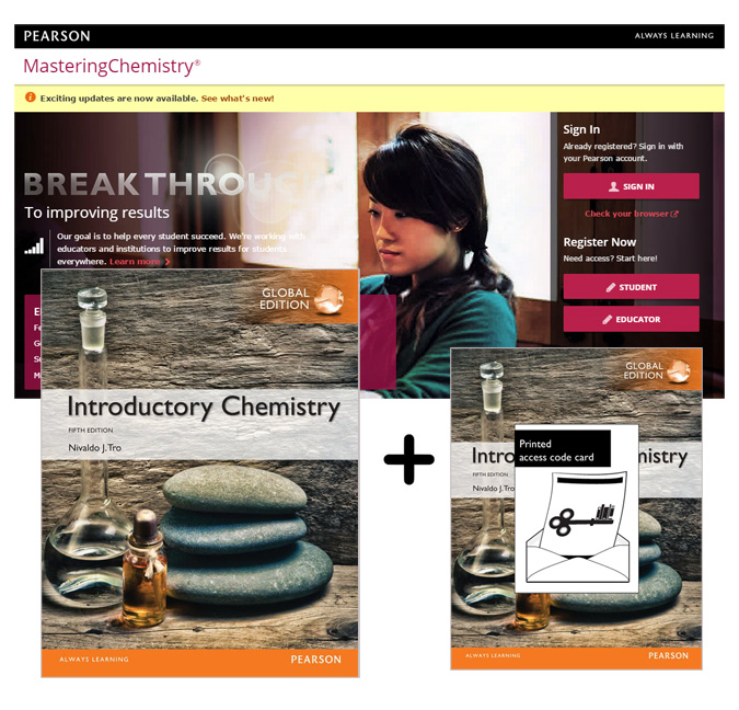 Tro: Introductory Chemistry Global Edition + Modified MasteringChemistry with eText (5e)