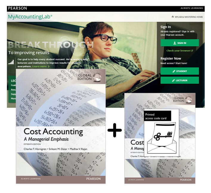 Value Pack Cost Accounting Global Edition + MyLab Accounting with eText