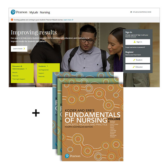 Kozier and Erb's Fundamentals of Nursing Volumes 1-3 + MyLab Nursing