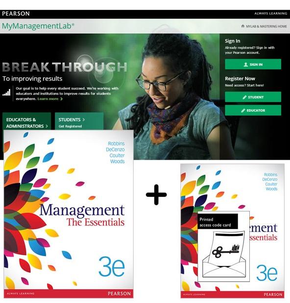Value Pack Management: The Essentials + MyManagementLab with eText