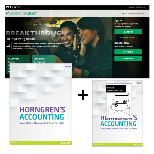 Value Pack Horngren's Accounting + MyAccountingLab with eText