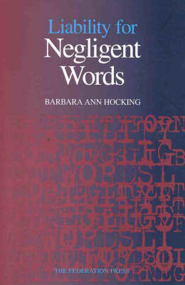 Liability for Negligent Words