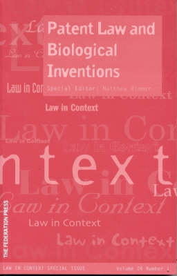 Patent Law and Biological Inventions