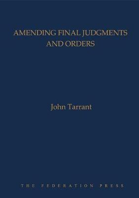Amending Final Judgments and Orders