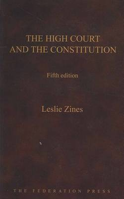 The High Court and the Constitution