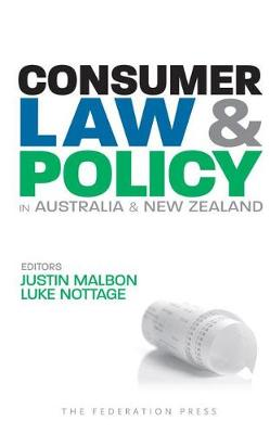 Consumer Law and Policy in Australia and New Zealand