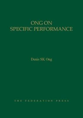 Ong on Specific Performance