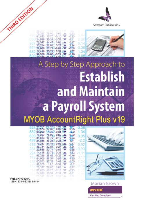 FNSBKPG405A  A Step by Step Approach to Establish and Maintain a Payroll System using MYOB AccountRight+ V19