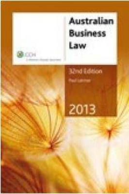 Australian Business Law 2013