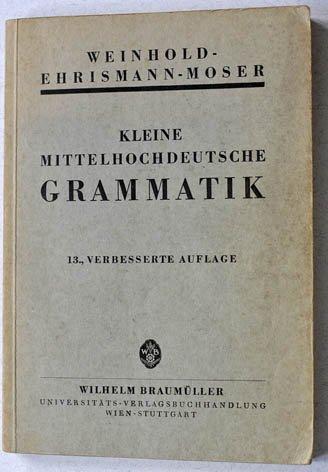 Kleine Mittelhochdeutsche Grammatik