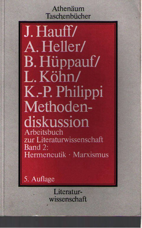 Methodendiskussion Arbeitsbuch Zur Literaturwissenschaft V2