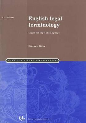English Legal Terminology: Legal Concepts in Language