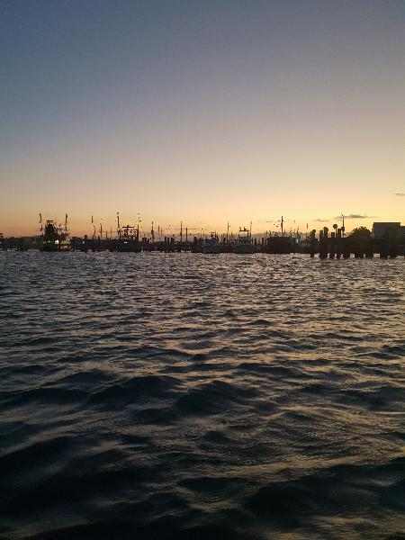 Sunset in the harbour.