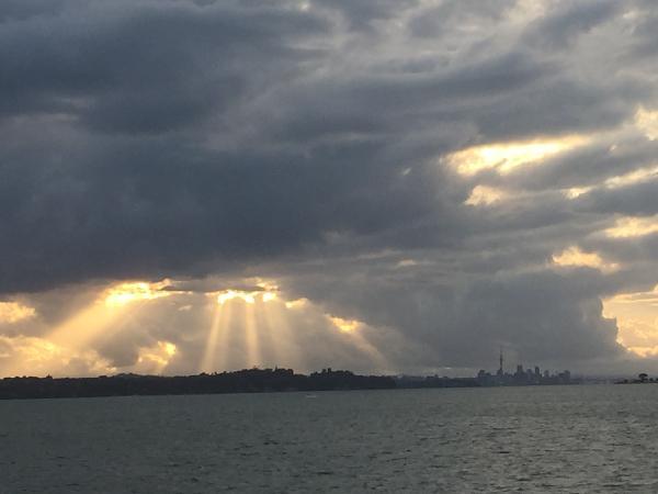 Evening Views over Auckland city