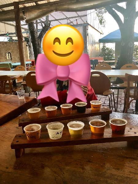 Two tasting trays of 10 different beers during brewery visit