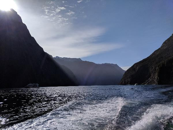 Milford Sound, view from the Mitre Peak cruise