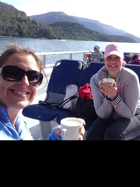 Well received blankets and mugs of coffee to top off the wonderful views!