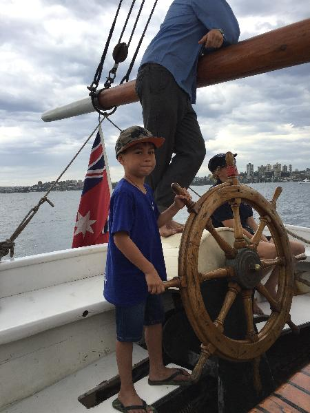 Captain Hunter on Sydney Harbour