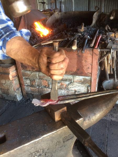 making a pair of tongs