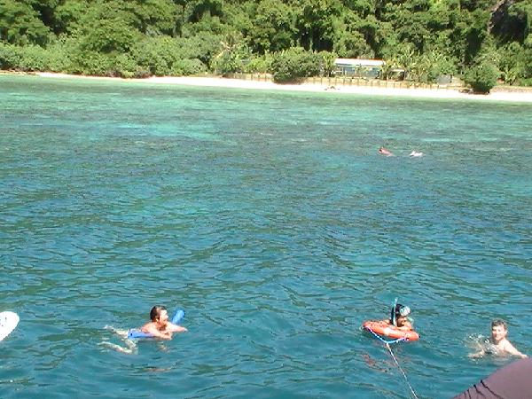 Snorkelling on of the reefs