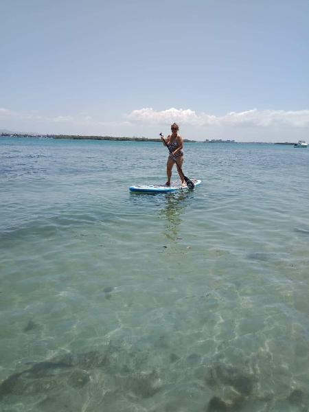 Finally got up on a stand up paddle board