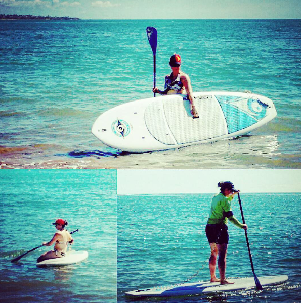 SUPing at Hervey Bay - idyllic!