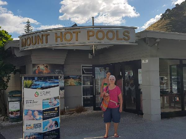 Mum at Mount hot Pools