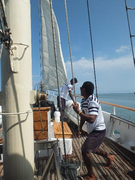 crew on our sailing vessel