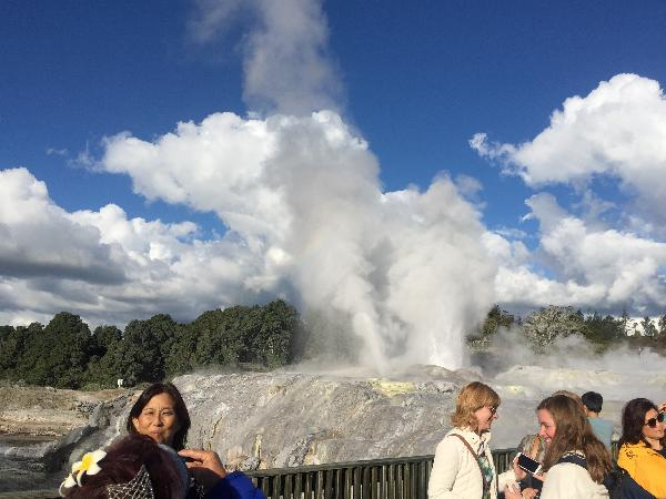 Geysers after the Maori concert