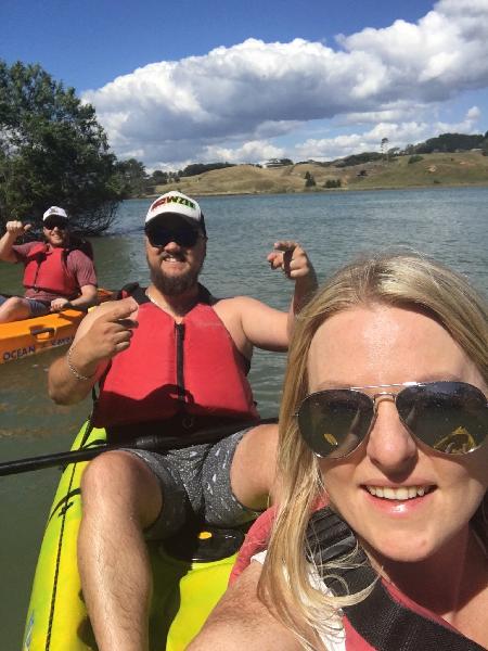 Kayaking in Raglan