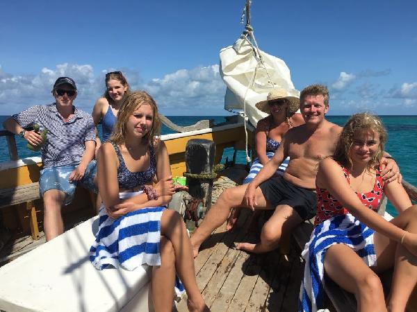 Chilling on board the Falla.