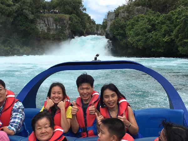 Jetboat ride with huka falls as background. The other foto taken at hukafalls lookout