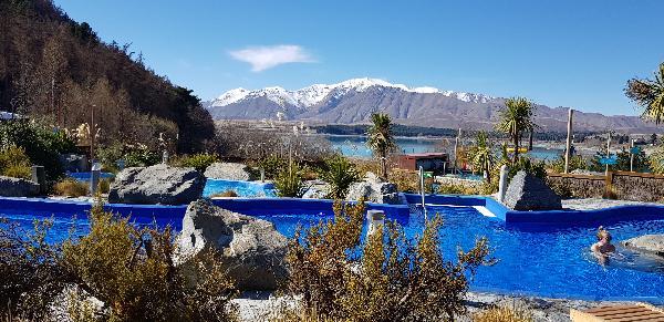 Awesome View while enjoying the hot pools of Tekapo Springs
