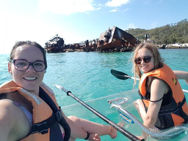 Glass kayaks were incredible