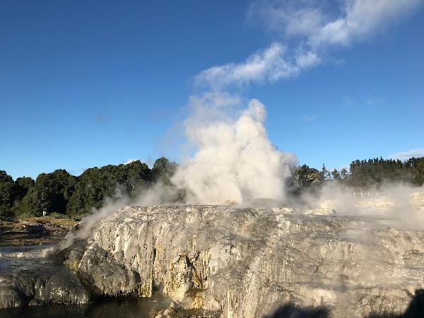 This is Rotorua it was so amazing it was hard to believe that the steam is coming from below