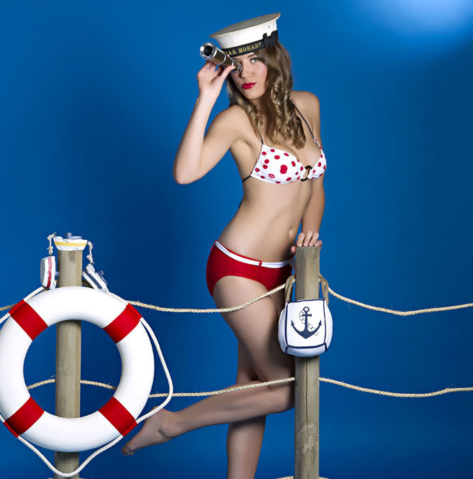 "Boudoir Photography Melbourne  –  ""Your ship is ready for boarding"" pin up shoot."